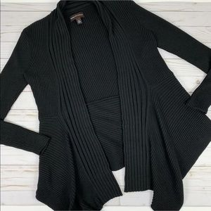 Dana Buchman Cardigan Sweater High Low Ribbed